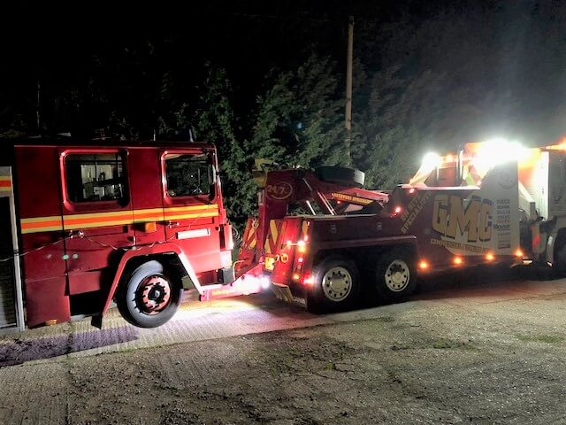 Fire engine recovery